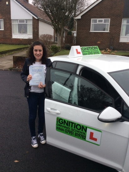 Congratulations to Phoebe passing her driving test at bolton test centre 1st time - wishing her many miles of safe driving