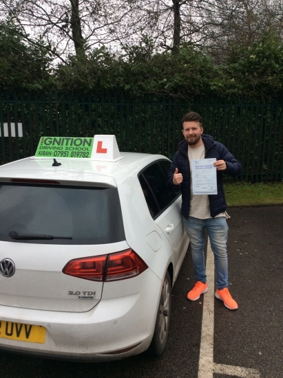 congratulations to Darren on passing his driving test at bolton test centre, faultless drive 0 minors<br /> keep up the good standard, wish you all the best
