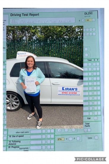 I passed first time at Kirans Driving School  with zero minor faults. I cannot recommend my My instructor, Kiran , highly enough.<br /> <br /> I was a nervous student and was fortunate to find, in Kiran , an exceptional teacher. He pushed me when I needed to be pushed, praised when I needed praise. He did eve