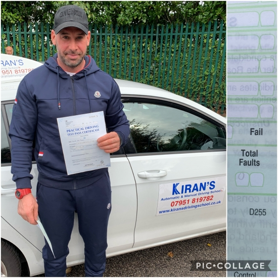 Congratualtions to Gaz on passing his driving test at bolton test centre first time with 0 Driving faults - Perfect Drive - CLEAN SHEET
