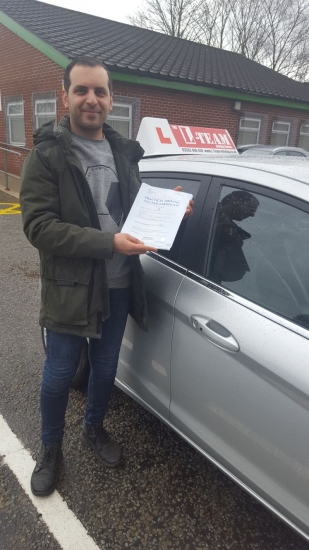 Congratulations to Hosein passing his driving test with L-Team driving school for the first time!! #passed#driving#learner� #manchester#drivinglessons #help #learning #cars Call us know to get booked in on 0333 240<br /> <br /> <br /> PASS IN APRIL 2018