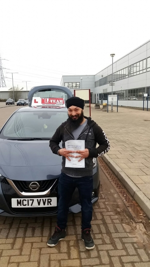 Congratulations to Sanmeet passing his driving test with L-Team driving school for the first time!! #passed#driving#learner� #manchester#drivinglessons #help #learning #cars Call us know to get booked in on 0333 240 6430<br />