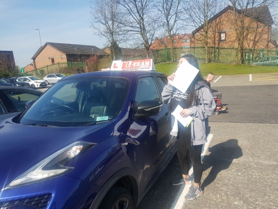 Congratulations to Aisha passing her driving test with<br />  L-Team driving school for the first time!! #passed#driving#learner� #manchester#drivinglessons #help #learning #cars Call us know to get booked in on 0333 240 6430<br /> <br /> PASS IN APRIL 2018