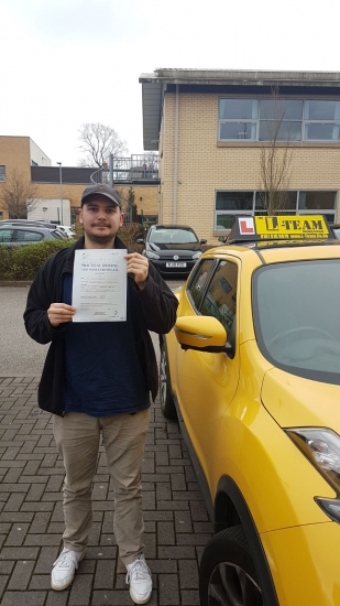 Congratulations to Miro passing his driving test with <br /> L-Team driving school for the first time!! #passed#driving#learner� #manchester#drivinglessons #help #learning #cars Call us know to get booked in on 0333 240 6430<br /> <br /> PASS IN APRIL 2018