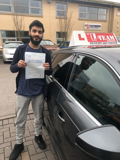Congratulations to Zain passing his driving test with <br /> L-Team driving school for the first time!! #passed#driving#learner� #manchester#drivinglessons #help #learning #cars Call us know to get booked in on 0333 240 6430<br /> <br /> PASS IN APRIL 2018