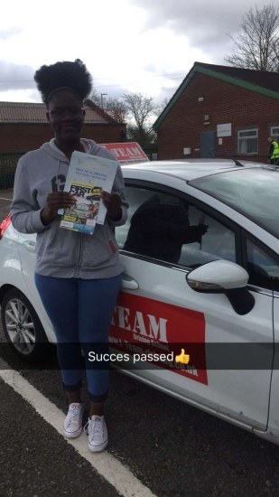 Congratulations to Succes passing her driving test with L-Team driving school for the first time!! #passed#driving#learner� #manchester#drivinglessons #help #learning #cars Call us know to get booked in on 0333 240 6430<br />