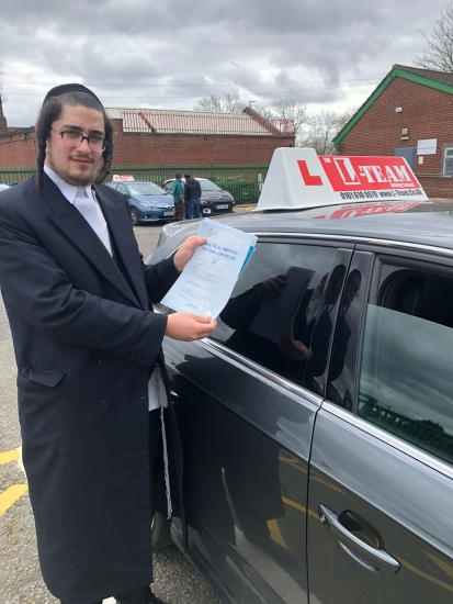 Congratulations to Yoel passing his driving test with <br />