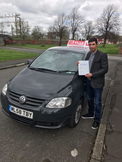 Congratulations to Jamshid passing his driving test with L-Team driving school for the first time!! #passed#driving#learner� #manchester#drivinglessons #help #learning #cars Call us know to get booked in on 0333 240 6430<br />