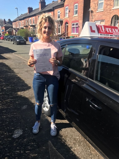 Congratulations to Lucinda passing her driving test with L-Team driving school for the first time!! #passed#driving#learner� #manchester#drivinglessons #help #learning #cars Call us know to get booked in on 0333 240 6430<br /> <br /> PASS IN APRIL 2018