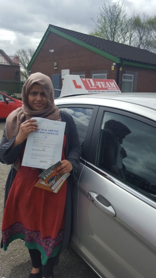 Congratulations to Hamida passing her driving test with L-Team driving school for the first time!! #passed#driving#learner� #manchester#drivinglessons #help #learning #cars Call us know to get booked in on 0333 240 6430<br />