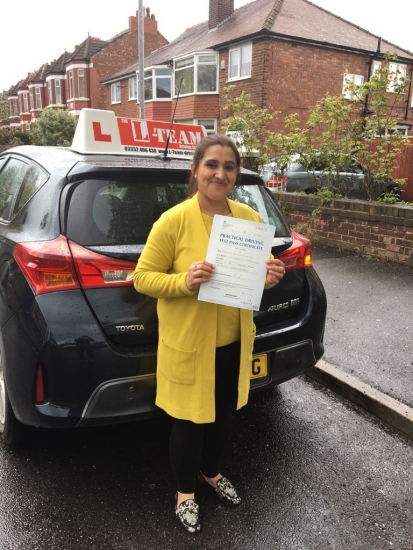 Congratulations to Mubashra passing her driving test with L-Team driving school for the first time!! #passed#driving#learner� #manchester#drivinglessons #help #learning #cars Call us know to get booked in on 0333 240 6430<br />