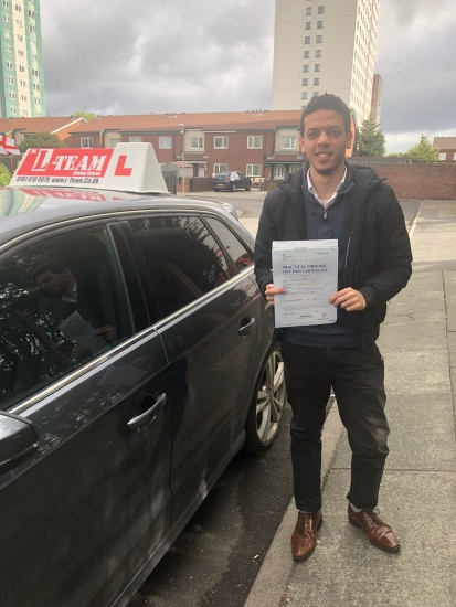 Congratulations to Kareem passing his driving test with L-Team driving school for the first time!! #passed#driving#learner� #manchester#drivinglessons #help #learning #cars Call us know to get booked in on 0333 240 6430<br />