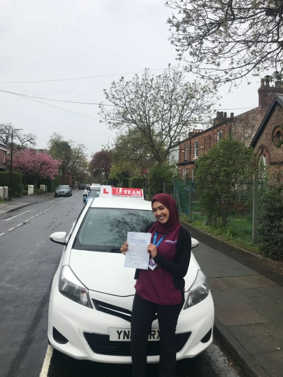 Congratulations to AWA passing her driving test with <br /> L-Team driving school for the first time!! #passed#driving#learner� #manchester#drivinglessons #help #learning #cars Call us know to get booked in on 0333 240 6430<br /> <br /> <br /> PASS IN APRIL 2018