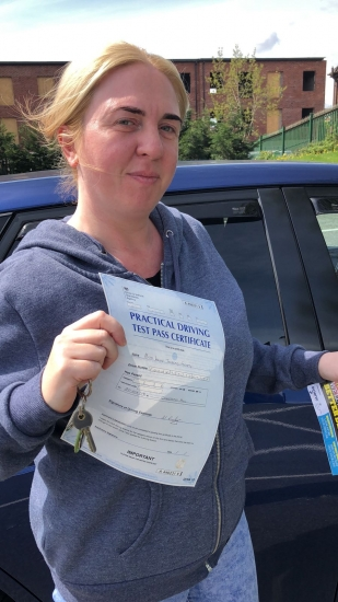 Congratulations to Kelly passing her driving test with <br />