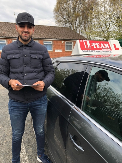 Congratulations to Suliman passing his driving test with L-Team driving school for the first time!! #passed#driving#learner� #manchester#drivinglessons #help #learning #cars Call us know to get booked in on 0333 240 6430<br />