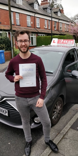 Congratulations to Jake passing his driving test with <br /> L-Team driving school for the first time!! #passed#driving#learner� #manchester#drivinglessons #help #learning #cars Call us know to get booked in on 0333 240 6430<br /> <br /> <br /> PASS IN MAY 2018