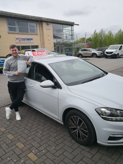 Congratulations to Marc passing his driving test with <br />