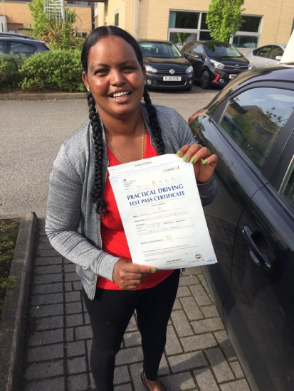 Congratulations to Yordanos passing her driving test with <br /> L-Team driving school for the first time!! #passed#driving#learner� #manchester#drivinglessons #help #learning #cars Call us know to get booked in on 0333 240 6430<br /> <br /> <br /> PASSED MAY 2018�