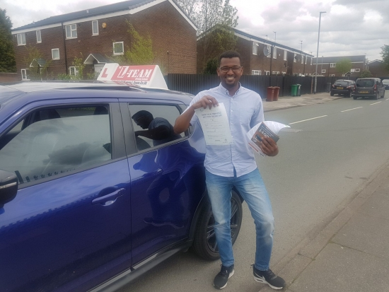 Congratulations to DR Murtada passing his driving test with <br />