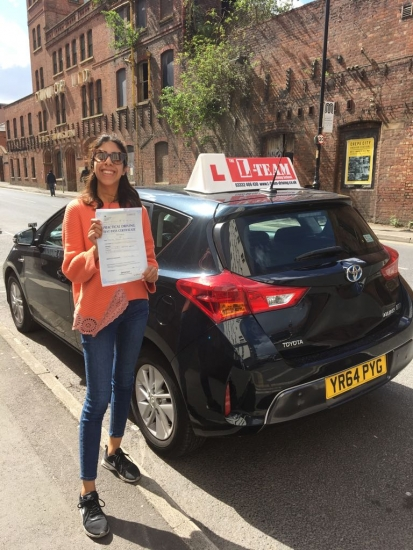 Congratulations to Dalys passing her driving test with <br />