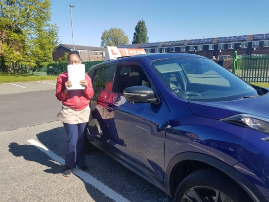 Congratulations to Adeena passing her driving test with <br /> L-Team driving school for the first time!! #passed#driving#learner� #manchester#drivinglessons #help #learning #cars Call us know to get booked in on 0333 240 6430<br /> <br /> <br /> PASSED MAY 2018�
