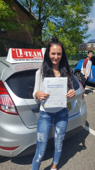 Congratulations to Tiffany passing her driving test with <br /> L-Team driving school for the first time!! #passed#driving#learner� #manchester#drivinglessons #help #learning #cars Call us know to get booked in on 0333 240 6430<br /> <br /> <br /> PASSED MAY 2018�