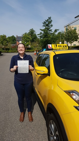 Congratulations to Rachel passing her driving test with <br />