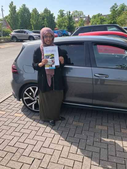 Congratulations to Maryam passing her driving test with <br /> L-Team driving school for the first time!! #passed#driving#learner� #manchester#drivinglessons #help #learning #cars Call us know to get booked in on 0333 240 6430<br /> <br /> <br /> PASSED MAY 2018�
