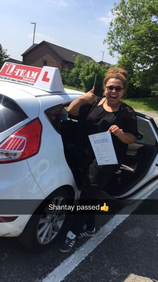 Congratulations to Shantay passing her driving test with <br />