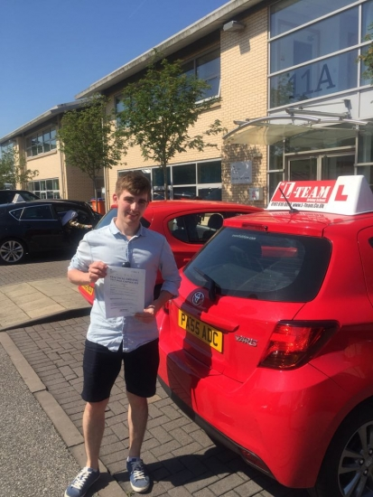 Congratulations to Daniel passing his driving test with <br />