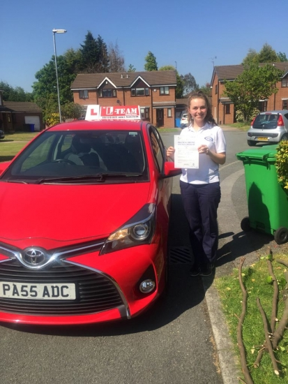 Congratulations to Lucy passing her driving test with <br />