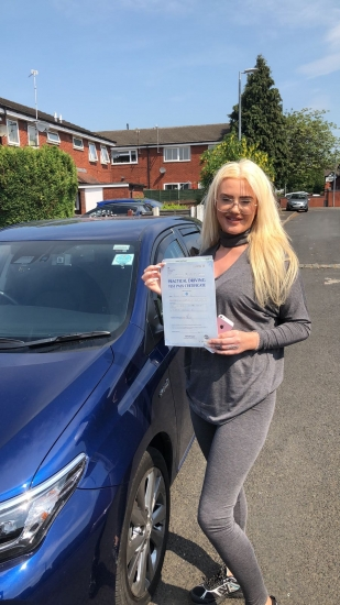 Congratulations to Autum wells passing her driving test with <br /> L-Team driving school for the first time!! #passed#driving#learner� #manchester#drivinglessons #help #learning #cars Call us know to get booked in on 0333 240 6430<br /> <br /> <br /> PASSED MAY 2018�