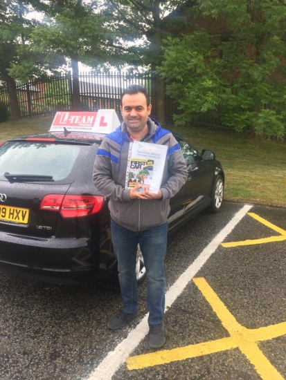 Congratulations to Ahmed passing his driving test with <br /> L-Team driving school for the first time!! #passed#driving#learner� #manchester#drivinglessons #help #learning #cars Call us know to get booked in on 0333 240 6430<br /> <br /> <br /> PASSED MAY 2018�