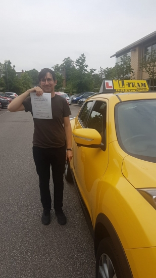 Congratulations to Ignacio passing his driving test with <br />