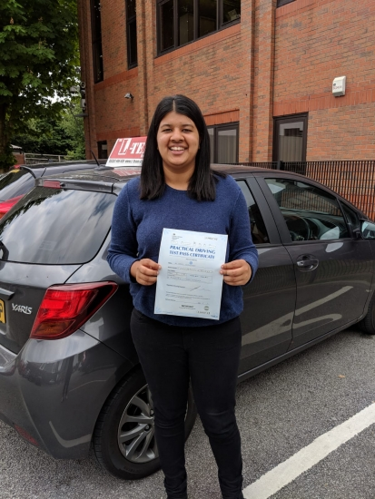 Congratulations to Varuna passing her driving test with <br />