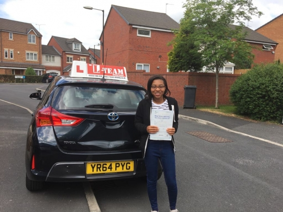 Congratulations to Feyi passing her driving test with L-Team driving school for the first time!! #passed#driving#learner� #manchester#drivinglessons #help #learning #cars Call us now to get booked in on 0333 240 6430<br />