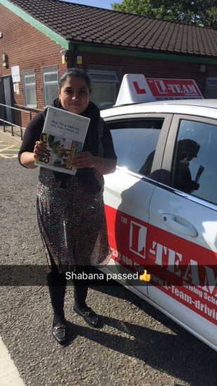 Congratulations to Shabana passing her driving test with L-Team driving school for the first time!! #passed#driving#learner� #manchester#drivinglessons #help #learning #cars Call us now to get booked in on 0333 240 6430<br />