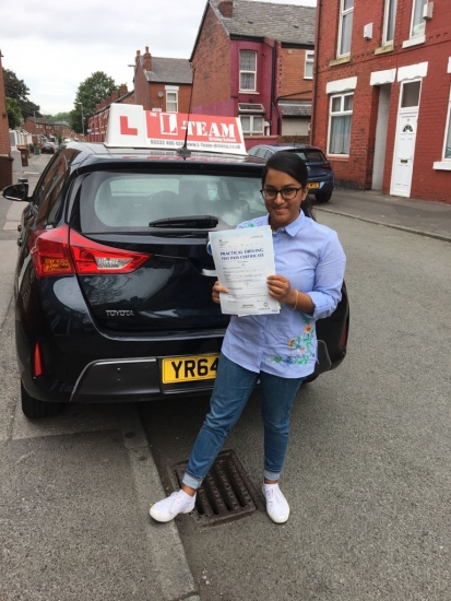 Congratulations to Minara  passing her driving test with L-Team driving school for the first time!! #passed#driving#learner� #manchester#drivinglessons #help #learning #cars Call us now to get booked in on 0333 240 6430<br />