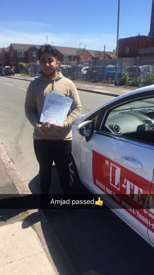 Congratulations to Amjad passing his driving test with L-Team driving school for the first time!! #passed#driving#learner� #manchester#drivinglessons #help #learning #cars Call us now to get booked in on 0333 240 6430<br />