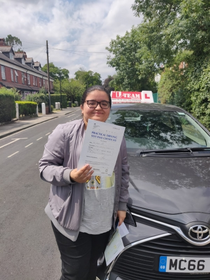 Congratulations to Rabina passing her driving test with L-Team driving school for the first time!! #passed#driving#learner� #manchester#drivinglessons #help #learning #cars Call us now to get booked in on 0333 240 6430<br /> <br /> PASSED JULY 2018 �
