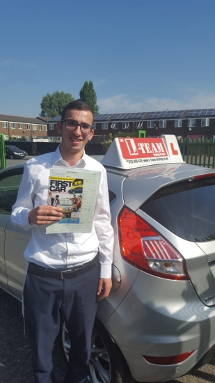 Congratulations to Dave passing his driving test with L-Team driving school for the first time!! #passed#driving#learner� #manchester#drivinglessons #help #learning #cars Call us now to get booked in on 0333 240 6430<br /> <br /> PASSED JULY 2018 �