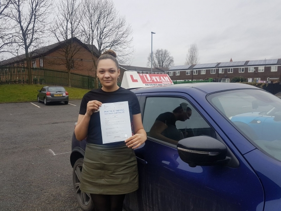 Congratulations to Danielle passing her driving test with L-Team driving school for the first time!! #passed#driving#learner #manchester#drivinglessons #help #learning #cars  Call us know to get booked in on 0161 610 0079<br /> <br /> <br /> <br /> PASS IN FEBRUARY 2018