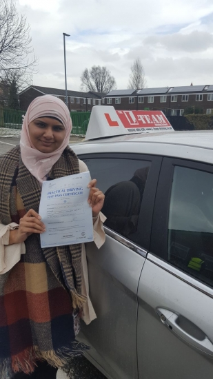 Congratulations to Miriam passing her driving test with  L-Team driving school for the first time!! #passed#driving#learner #manchester#drivinglessons #help #learning #cars Call us know to get booked in on 0161 610 0079