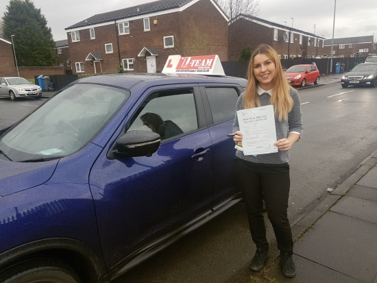 Congratulations to Jennifer passing her driving test with L-Team driving school for the first time!! #passed#driving#learner #manchester#drivinglessons #help #learning #cars  Call us know to get booked in on 0161 610 0079<br /> <br /> <br /> <br /> December 2017