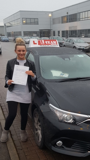 Congratulations to Kourtney passing her driving test with L-Team driving school for the first time!! #passed#driving#learner #manchester#drivinglessons #help #learning #cars  Call us know to get booked in on 0161 610 0079<br />