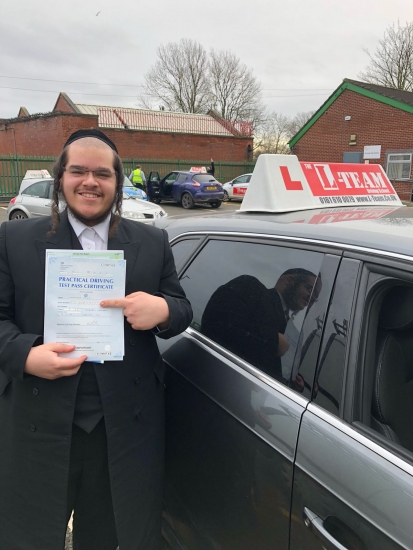 Congratulations to Fred passing his driving test with <br />