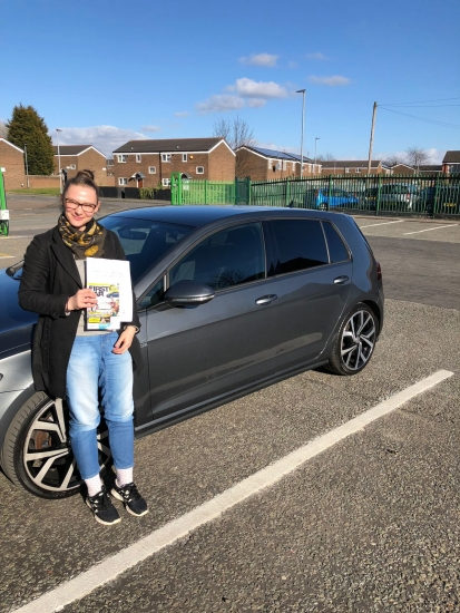 Congratulations to Julia passing her driving test with<br />
