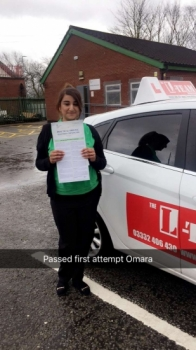 Congratulations to OMARA passing her driving test with L-Team driving school for the first time!! #passed#driving#learner #manchester#drivinglessons #help #learning #cars Call us know to get booked in on 0161 610 0079<br /> <br /> PASSED IN APRIL 2018