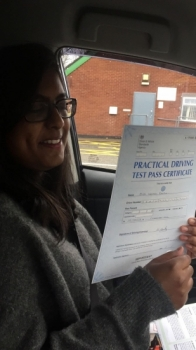 Congratulations to Urvashi passing her driving test with L-Team driving school for the first time!! #passed#driving#learner🏆 #manchester#drivinglessons #help #learning #cars Call us know to get booked in on 0333 240 6430<br /> <br /> PASS IN APRIL 2018