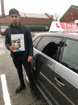 Congratulations to Awaes passing his driving test with L-Team driving school for the first time!! #passed#driving#learner🏆 #manchester#drivinglessons #help #learning #cars Call us know to get booked in on 0333 240 6430<br /> <br /> PASS IN APRIL 2018